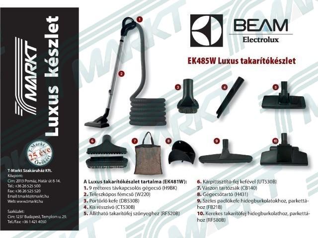 Electrolux-BEAM Luxus kapcsolós takarítókészlet 9m